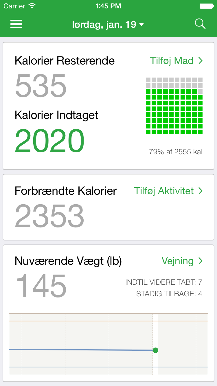 FatSecret Danmark - Kalorietæller og Diættracker for Vægttab